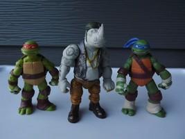 Playmate Toys TMNT Lot of 3  Rock Steady Donatello Michealangelo  - $15.34