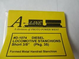 """A-Line # D-1074 Diesel Locomotive Stanchions Short 3/8""""  Pack 35 HO Scale image 2"""