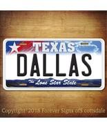 Dallas Texas City/College Aluminum Vanity License Plate - $12.82