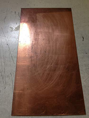 JumpingBolt Copper Sheet 1/8'' X 2'' X 5'' Material May Have Surface Scratches