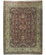 Handmade Rug 9x12 Maroon Dense Wool Jaipur Smooth Wool Distinctive Rug - $1,432.83