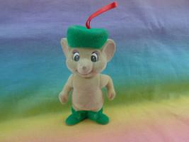Vintage Disney Rescuers Christmas Ornament Bianca Mouse Flocked Figure -... - $2.94