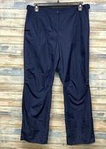 Women's Liz Golf Sloane Windbreaker Rain Pants Size 12 Navy Blue   (J-90) - $24.04