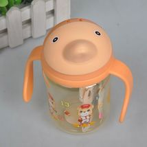 (as show)380ml Dolphin Kid Straw Cup with Handles Bottle For Water Child... - $22.00