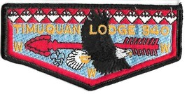 Timuquan Lodge 340 BSA OA Flap Patch with Soaring Eagle Boy Scouts of America - $9.89