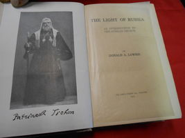 Antique Book-1923 THE LIGHT OF RUSSIA  Donald A. Lowrie w/ Autograph Inscription image 3