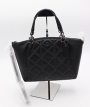 NWT Coach Kelsey Black Quilted Leather Satchel Crossbody Bag 13951 New $395 - $195.00