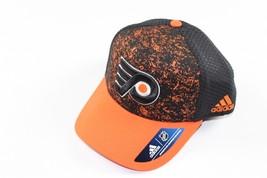 Rare New Sample ADIDAS Philadelphia Flyers Hockey Snapback Hat Orange Sp... - $22.23