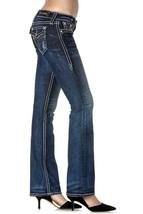 Rock Revival Women's Premium Boot Cut Dark Denim Rhinestone Jeans Ena B19 image 2