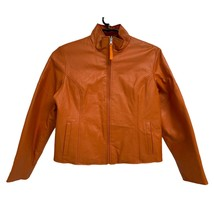 Wilson's Leather Maxima Women's Orange Genuine Leather Reversible Jacket L - $37.62