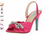 Blue by Betsey Johnson Women's Sb-Briel Fuchsia Satin Dress Sandal 6.5