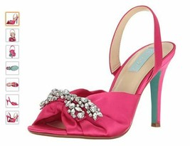 Blue by Betsey Johnson Women's Sb-Briel Fuchsia Satin Dress Sandal 6.5 - $43.56