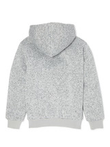BOCINI Boy's Marled Heather Grey Sherpa lined Front Zip Hoodie XL (14/16) image 2