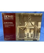 Boswell Quarter 14in 3-Light Brushed Nickel Chandelier w/ Weathered Gray... - $84.14