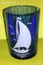 DEPRESSION GLASS-- HAZEL ATLAS RITZ BLUE BOATS TABLE GLASS (9 OUNCES) - $12.45