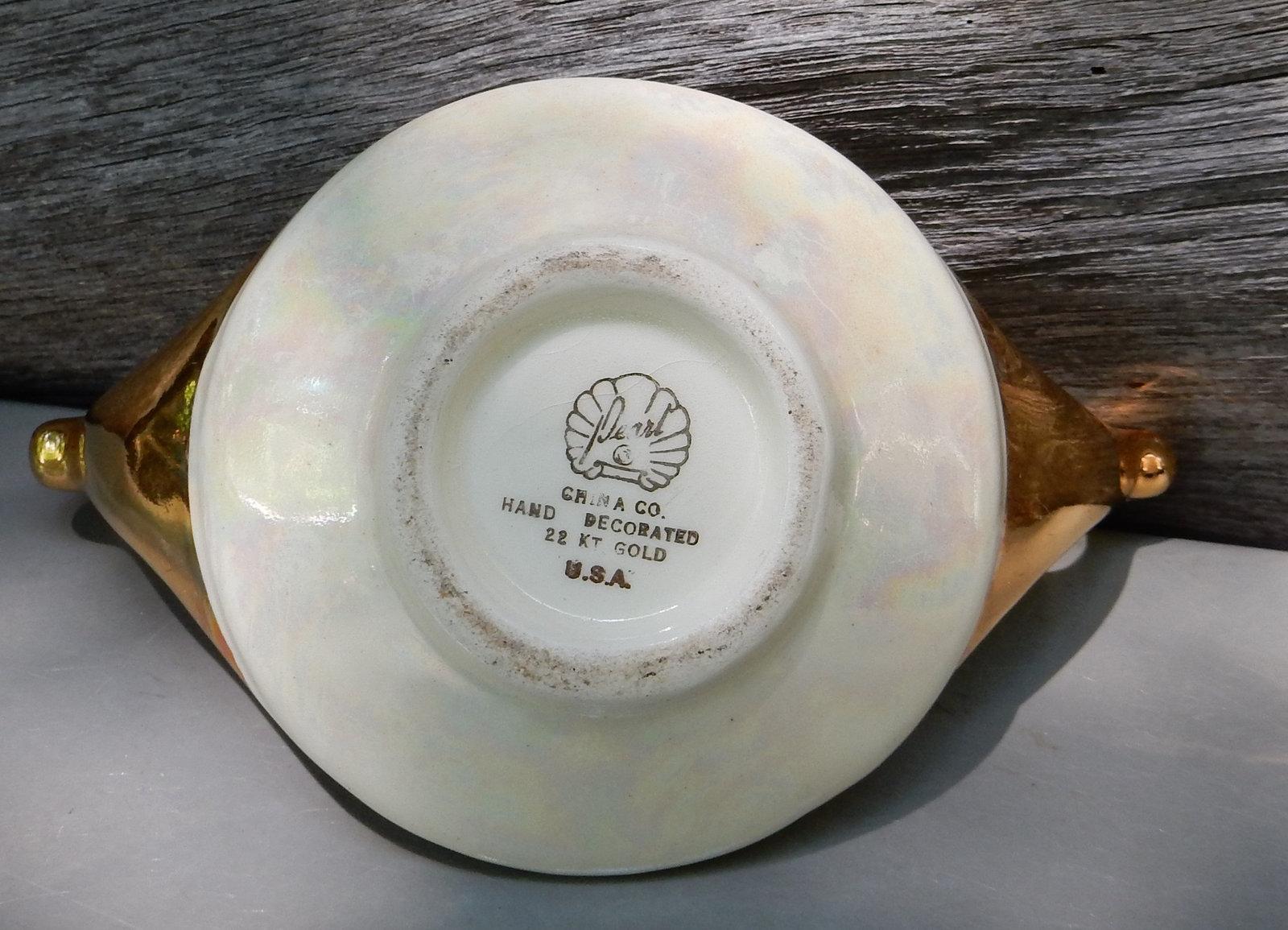 sugar bowl pearl china company iridescent