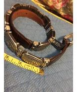 Brighton Ladies Beautiful Leather Medallion Belt  Med Full Medal USA Mad... - $20.79