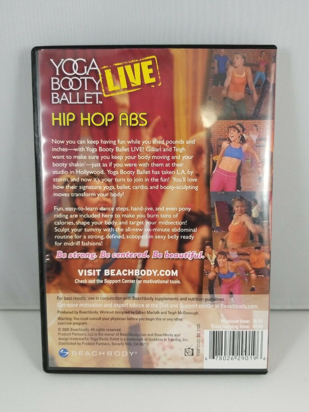 Yoga Booty Ballet Live Hip Hop Abs DVD - Fast Free Shipping! image 2