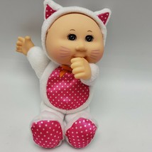 Cabbage Patch Kids Cuties Kitty Cat Kitten Costume Doll White Pink Thumb Sucking - $11.00