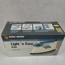 Vintage 1990 Black & Decker Light 'n Easy Steam Dry Iron Model F363 New Sealed  - $59.39