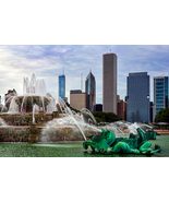 Buckingham Fountain, Fine Art Photography, Paper, Metal, Canvas Prints - $40.00