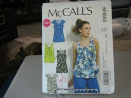 McCall's M6565 Misses Lined Tops Pattern - Size 6/8/10/12/14 - $6.92