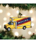 OLD WORLD CHRISTMAS MOVING TRUCK NEW HOUSE NEW HOME GLASS XMAS ORNAMENT 46082 - $12.88