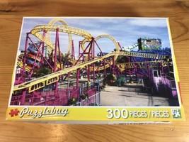 Puzzlebug Theme Park Rollercoaster 300 Piece Puzzle New Jigsaw Fair Rides - $11.66