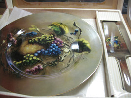 formalities by baum bros  cake plate and server - $11.98