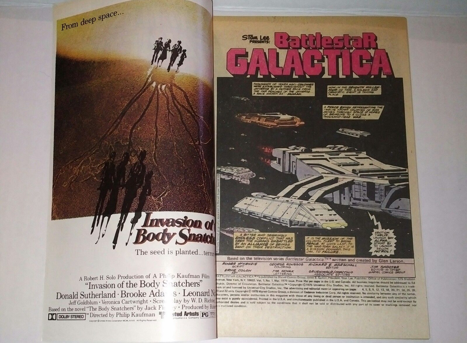 Stan Lee Presents Battlestar Galactica Comic #1 March 1978 Marvel