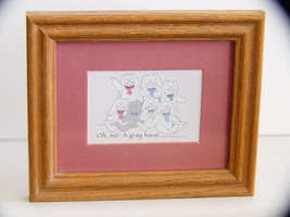 Whimsical Framed Print : What, Another Gray Hare? - $5.99