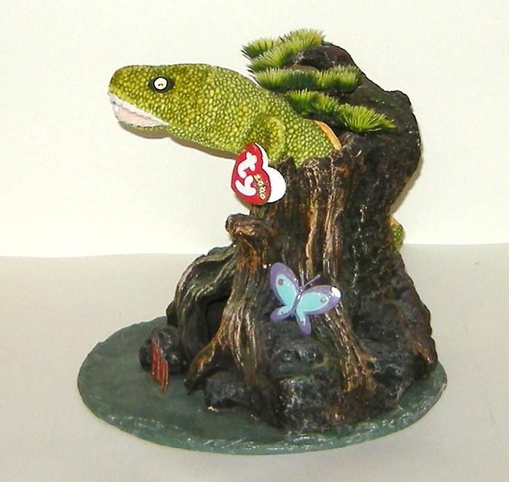 TY Beanie Baby Lizard Cave Tree Slate Base Halloween Arrangement New 21