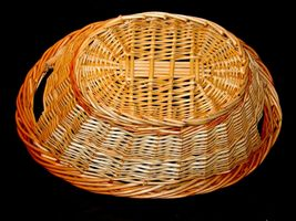 Handmade Woven Wicker Basket with Double Handles AA-191710  Vintage Collectible image 7