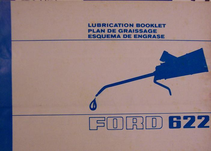 Ford 622 Combine Lubrication Manual