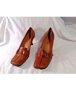"""Enzo Angiolini Heels Leather Upper sz 9.5 M Eadenette 3"""" heels Buckle ea... - $28.04"""