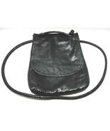 Liza Ganz Black Shoulder Pouch  Faux Snake Skin - $10.00