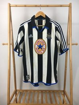 RARE 1999-2000 Newcastle United FC Jersey Shirt Home Adidas Brown Ale L  - €53,28 EUR