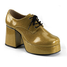 "FUNTASMA Jazz-02G Series 3 1/2"" Heel Platform Shoes - Pearlized Gold Gltr - $61.95"