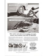 1957 Dupont DU PONT Nylon Cord tires promo print ad - $10.00