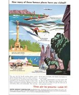 1957 United Aircraft Co. vacation promotion print ad - $10.00