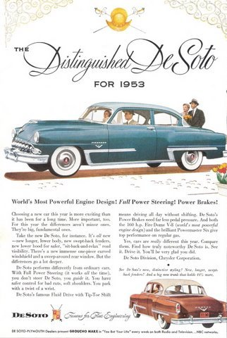 1953 DeSoto Famous for Fine Engineering print ad