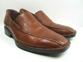 Born Mens Bike Toe Brown Loafer US Size 8 Very Little Wear Leather Casual  - $28.01