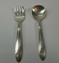 Vtg Oneida Community Tudor Silver Plate Queen Bess Pattern Childs Fork &... - $8.99