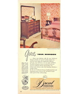 1948 Drexel Bedroom Hardwood Furniture 1/2 page print ad - $10.00