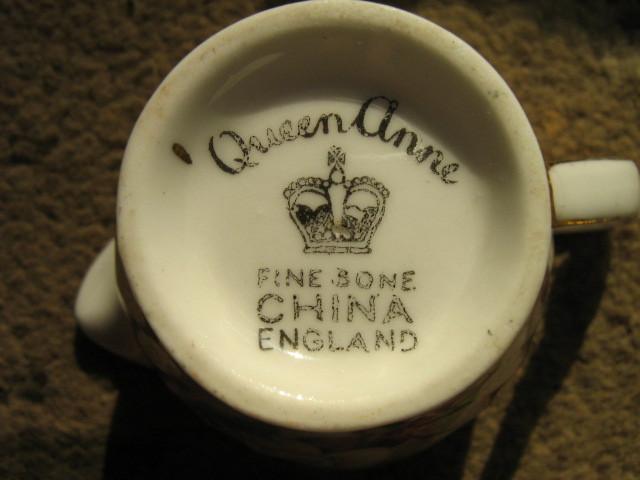 Queen Anne English Bone China Miniature Creamer & Sugar Bowl