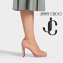 JIMMY CHOO Misty 120mm Platform Ballet Pink Suede Sandals EU 36.5/US 6.5... - $239.58