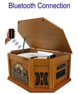 8-in-1 Boytone BT-25PW with Bluetooth Connection Natural wood Classic Tu... - $223.02