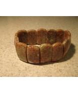 BRACELET BROWN JASPER GEMSTONE STRETCH NEW #764 - $13.99