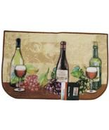 TUSCAN KITCHEN MAT Area Rug Wine Grapes Vines Beige Slice Semicircle - $14.99