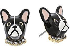 KATE SPADE Black Frenchie Ma Chérie Antoine Dog Stud Earrings w/ KS Dust Bag - $29.99
